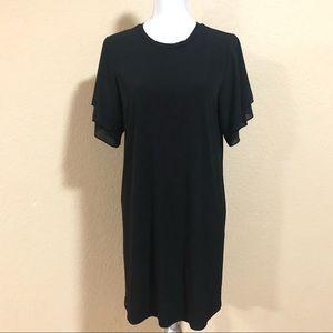Michael Michael Kors M Black Midi Shift Dress